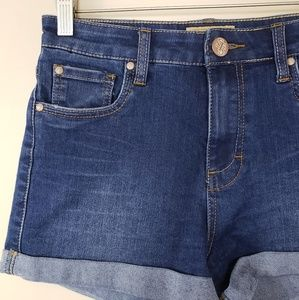 STS Blue Shorts - STS Blue | High Waist Cuffed Denim Shorts